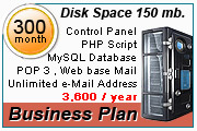 Hosting Plan 150 mb.